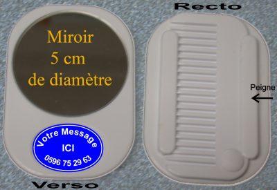 miroir peigne 5cm