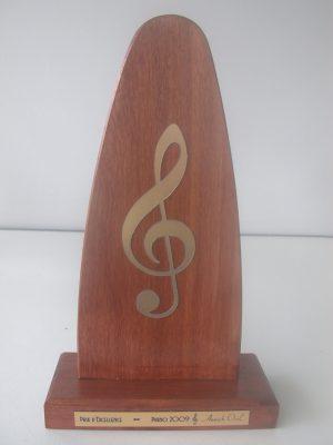 Trophée bois musique