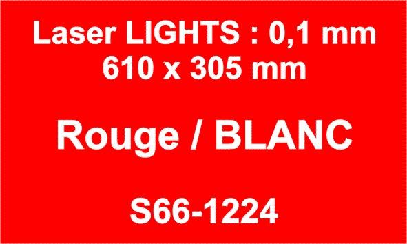 laser rouge blanc