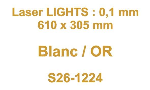 laser blanc or