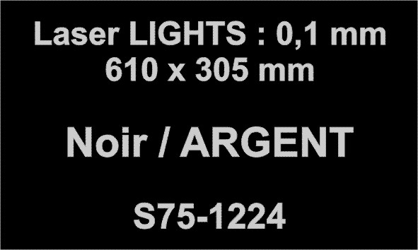 laser noir argent