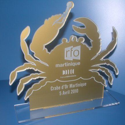 Trophée crabe d'or