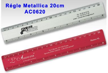 règle metallica 20cm