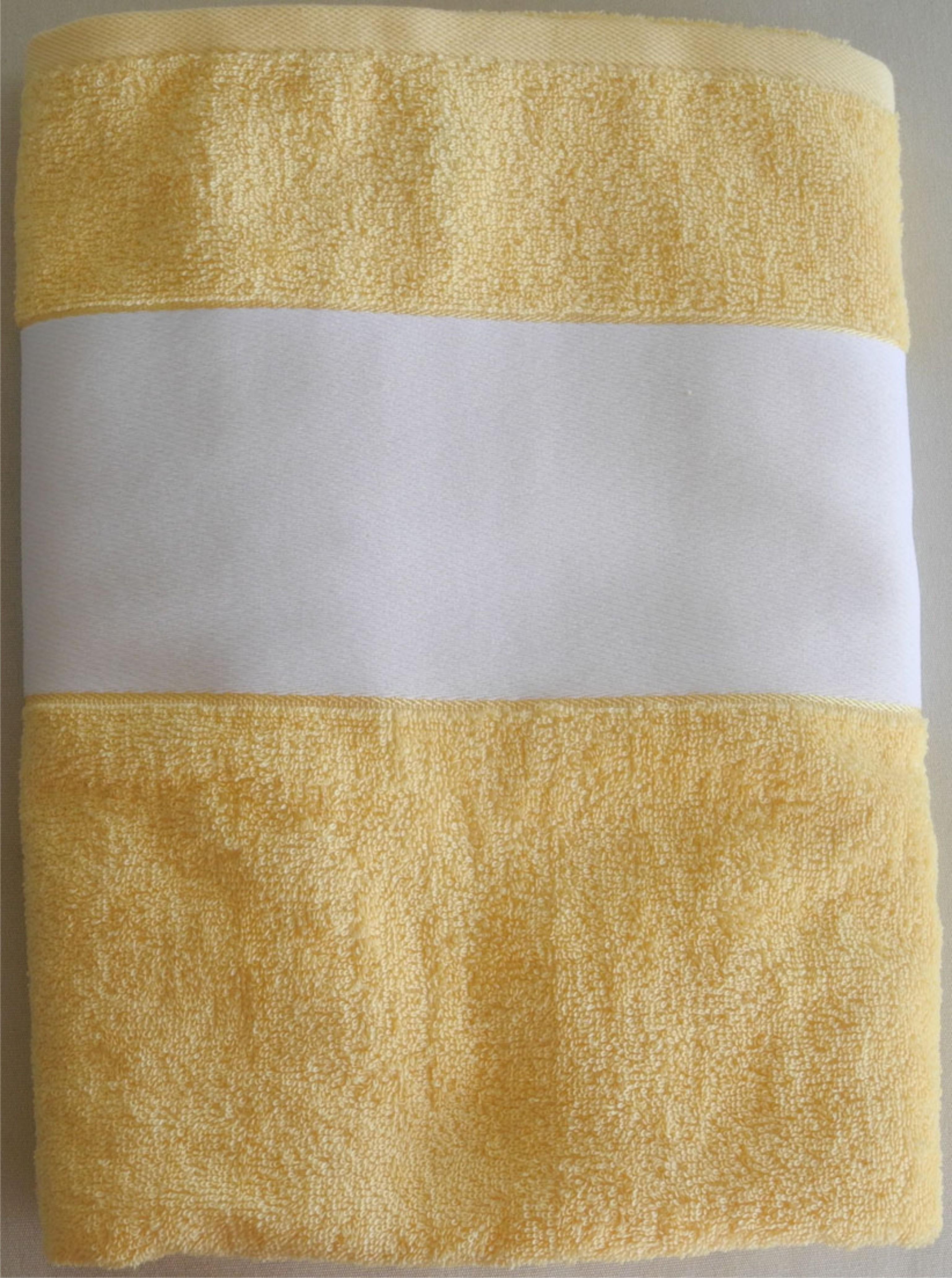 Drap de bain jaune