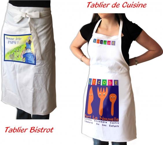 tablier cuisine bistrot