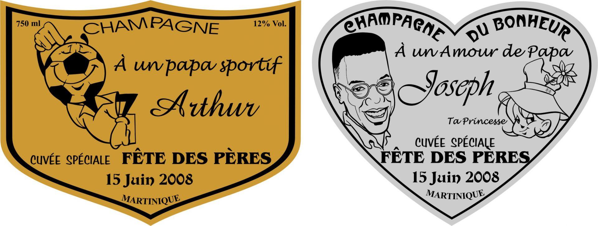 Étiquette champagne Papa